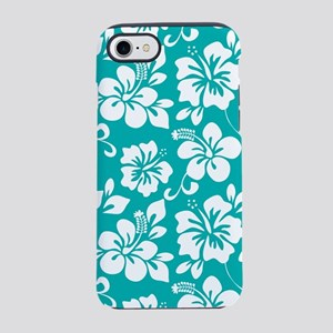 Turquoise Hawaiian Hibiscus iPhone 8/7 Tough Case